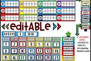 DIY Classroom Decor Easy & Inexpensive Calendar Kits